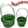 2011 Newest Woven Round Bamboo Basket with Long Handle