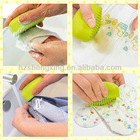 2012 fashion colorful/candy color glowing silicone laundry brush for living goods