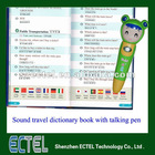 Promotional travel translation gifts/14 languages sound audio dictionary with magic talking pen for traveling communication