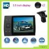 2012 big screen 3.5 inch car dvr ! G-sensor seperated & external lens vga car black box