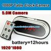 1080p table clock hidden camera