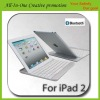 Aluminum Case with Bluetooth Wireless KeyBoard Case for iPad2