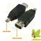 High Quality Firewire 1394 6P Female to 4P Female Adapter/Connector