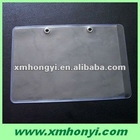clear plastic pvc card pocket with metal ring