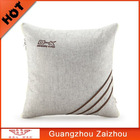 Natural Linen and embroidery Cushion Cover Hollow Cotton children quilt