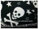 Skulls & Stars Fleece Blanket 50x60 New