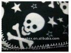 Skulls & Stars Fleece Blanket 50x60 New