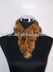 knitted rex rabbit fur scarf-winter scarf