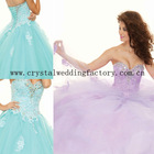 Top seller 2013 lace corset beaded sweetheart lilac ball gown custom-made prom dresses CWFap5005