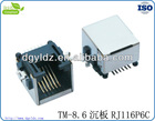 High quality SMT RJ11 plate shield connector with 6p6c