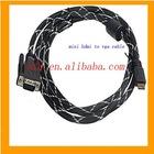 2M/6FT MINI HDMI Male to VGA HD-15 Male Cable
