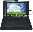 7 inch leather case for tablet pc mid with keyboard & normal usb keyboard case