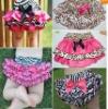Girl Baby Clothing Ruffle Pants Bloomers Nappy Skirt+Headband