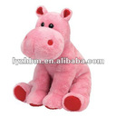 Lovely Soft Plush Animal Pink Stuffed Hippo Toy soft toy manufacturers