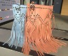 Popular long tassels handbag bags with stud