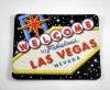 Computer accessory promotional gift paper mouse pad with city night view of LAS VEGAS