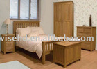 (W-B-0013) simple design solid wood bed room sets