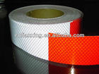 red and white warning tape vehicle conspicuity reflective tape with prismatic structure