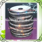 Czech quality fabric rhinestone trimming of 2 rows