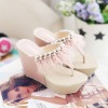 ladies fashion sandal 2011 summer shoe manufacturer china ho083