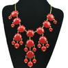 Women Resin Bubble Bib Statement Fashion Chain Necklace