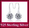 DLS925E001 Genuine 925 Sterling Silver 8MM Zircon Earrings for Women
