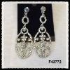 alloy diamond fashion earrings F43772