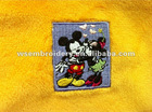 Embroidered micky pattern patch in toy flannelette