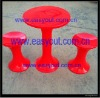 Plastic Folding Coffee Table Matched with Tam Tam Stools/Kartell/Knoll/Vitra/Ghost Stools for Bar & Outdoor & Garden