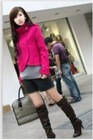Elegant Style Stand Collar Short Woolen Coat Rose CP12092703-1