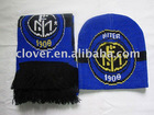 promotion soccer fan scarf&hat sets