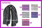 Striped Woven Long Scarf