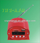 YW-2-A.FM shell iron car motorcycle mp3 player DC 12V