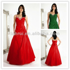 hot sale sexy floor-length crystal bodice corset back red prom dresses