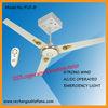 "Rechargeable AC & DC Ceiling Fan w/ Emergency Light & Remote,36"",42"",48"",56"",60"",64"""