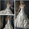 Best Seller Balll Gown Satin Hand Flower Bridal Dresses