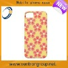 Beautiful yellow PC phone case with orange flowers printing for iphone