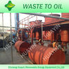 Water cooling and automatical slagging waste tyre pyrolysis system