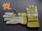 Warm cow grain leather gloves for working