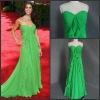 2012 latest style strapless chiffon green evening dress real sample CBPR1007
