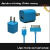 2012 hot selling color usb home charger for iphone,usb charger for iphone 4, for iphone usb charger