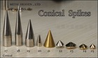 stocked big/small brass cone/conical brass spikes stock ready to ship
