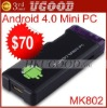 New released!! 1G /512 RAM+4GB ROM Android4.0 IPTV ,google tv,smart android box,allwinner A10 MK802 Accept Preorder