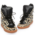 Brand name leopard high cut shoe.lay winter fashion shoes
