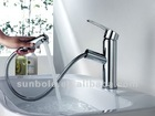 retractable pull out basin faucet(2012 new design)