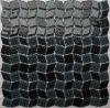 Rhombus Black Kitchen Glass Mosaic Tile