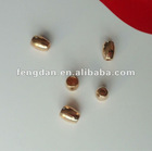 Classical golden bell shape metal stoppers for holding cords for garments