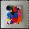 4.5cm-1.0cm pompons,100pcs/bag with assorted color