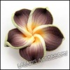 new wholesale and hot sale coffee handmade Polymer Clay Flower beads DIY for bohemian apparel 110584