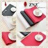 Hot Sale fashional Woven Vinyl Placemat-Strip line ZC004